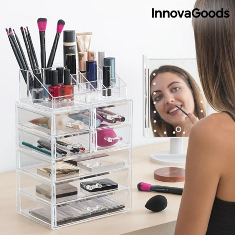 organisateur de maquillage acrylique innovagoods. Black Bedroom Furniture Sets. Home Design Ideas