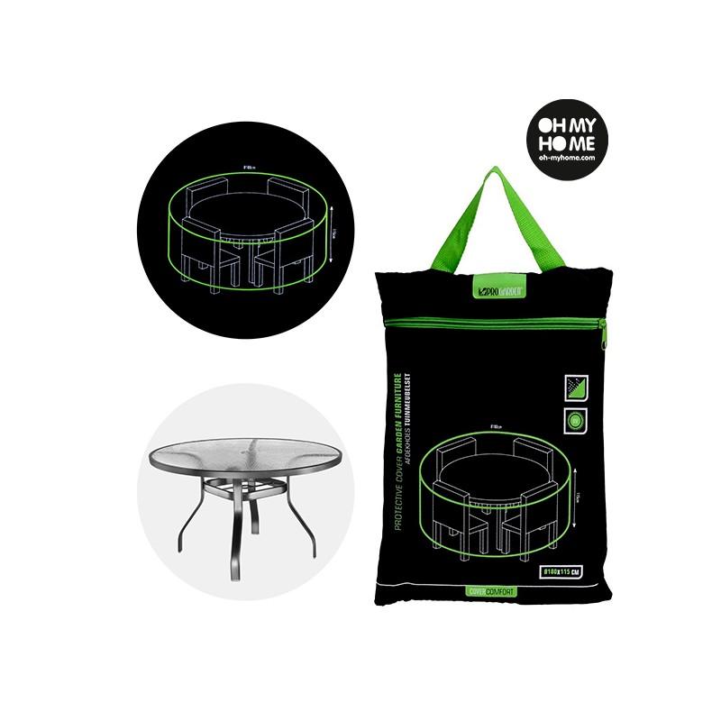 housse impermeable pour table ronde de jardin oh my home. Black Bedroom Furniture Sets. Home Design Ideas