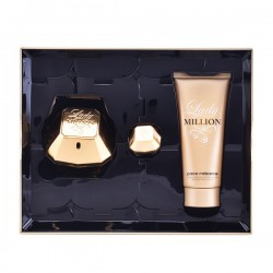 Set de Parfum Femme Lady Million Paco Rabanne (3 pcs)