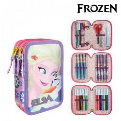 Pochette à crayons triple Frozen Lila