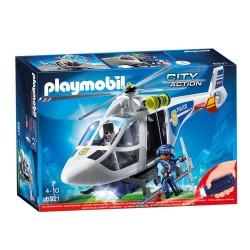 Playmobil Hélicoptère de police avec projecteur (+4 ans)