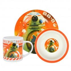 Vaisselles petit déjeuner BB-8 Star Wars 3 pièces