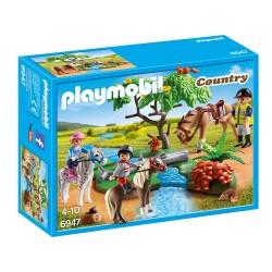 Playmobil Cavaliers avec poneys et cheval