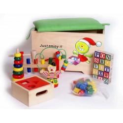 Coffre à jouets avec accessoires (+2 ans)