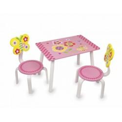 Ensemble de table et chaises en bois