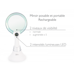 Miroir LED RECHARGEABLE
