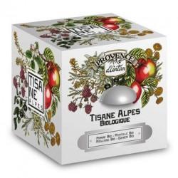 Tisane des Alpes bio - Boite métal 30 sachets mousseline