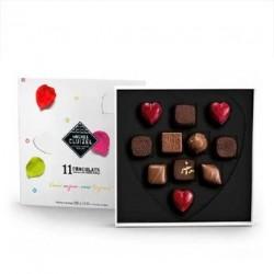 Coffret chocolats noirs et laits Michel Cluizel - Coffret 120g