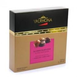 Coffret chocolats fins noir et lait - Valrhona - 150g