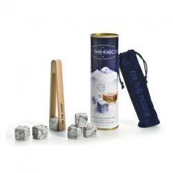Coffret Mont Blanc + 6 glaçons granit avec pince