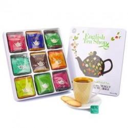 Coffret métal thés et infusions bio - 72 mousselines