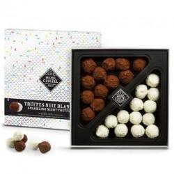 Coffret de 24 truffes noires et blanches
