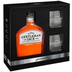 Coffret Jack Daniel's Gentleman Jack coffret whisky 2 verres - 40%