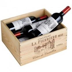 Coffret bois 6 bouteilles Château La Pierrière 2016