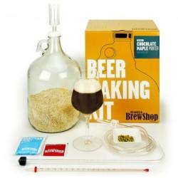Kit de fabrication bière brune, chocolat, sirop d'érable - 6,8%