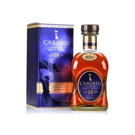 Whisky Cardhu 18 ans - single malt 40% - Bouteille 70cl + étui