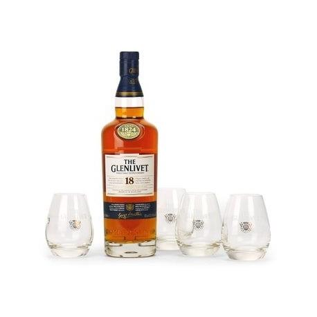 Coffret Whisky the Glenlivet 18 ans + 4 verres
