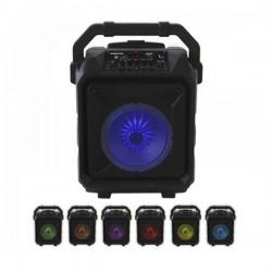 Haut-parleurs bluetooth portables LED 45W Noir