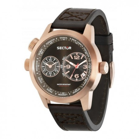 Montre Homme Sector Cuir Marron (48 mm)