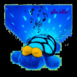 Peluche Tortue avec veilleuse LED musicale