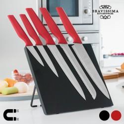 Couteaux avec Support Magnétique (6 pièces)