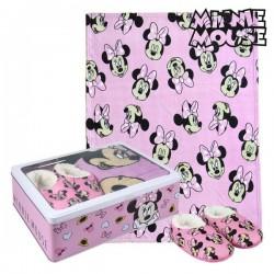 Boîte Métallique avec Couverture et Chaussons Minnie Mouse