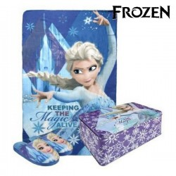 Boîte Métallique avec Couverture et Chaussons Frozen (3 pcs)