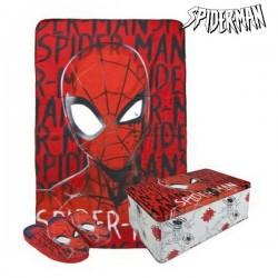 Boîte Métallique avec Couverture et Chaussons Spiderman