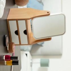 Miroir de Table avec Tiroirs Bamboo