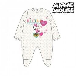 Barboteuse à Manches Longues pour Bébé Minnie Mouse Blanc