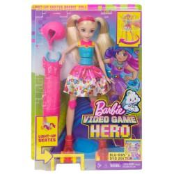 Poupée Barbie avec roller lumineux