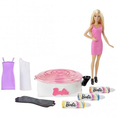 Poupée Barbie et son atelier de teinture pour robe