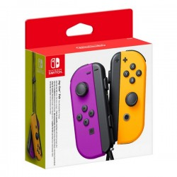 Manette de jeu sans fil Nintendo Joy-Con Violet Orange