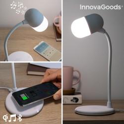 Lampe LED avec haut-parleur et chargeur sans fil