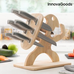 Jeu de couteaux avec support en bois Spartan