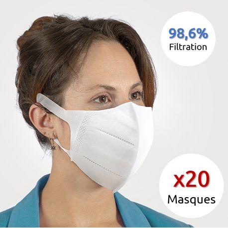 Masques de Protection Respiratoires (x20)