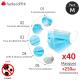 Pack déconfinement (M) : 40 Masques + 250ml Gel
