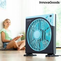 Ventilateur de Sol Box InnovaGoods Ø 30 cm 50W Noir Bleu
