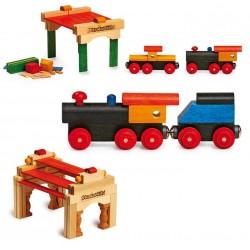 Ensemble Train en Bois (+3 ans)
