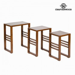 Set de 3 tables gigognes - Collection Serious Line by Craften Wood