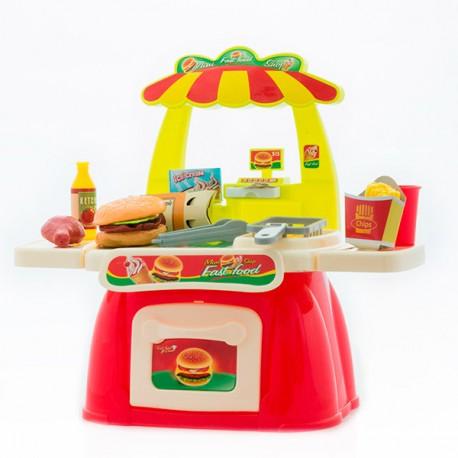 Jeu fast food + accessoires (+3 ans)