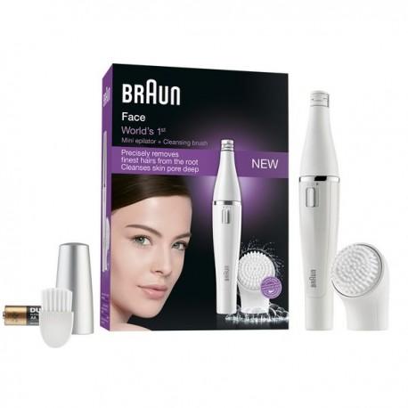 Épilateur Visage + Brosse Nettoyage Facial Braun