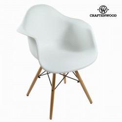 Chaise abs blanche by Craften Wood