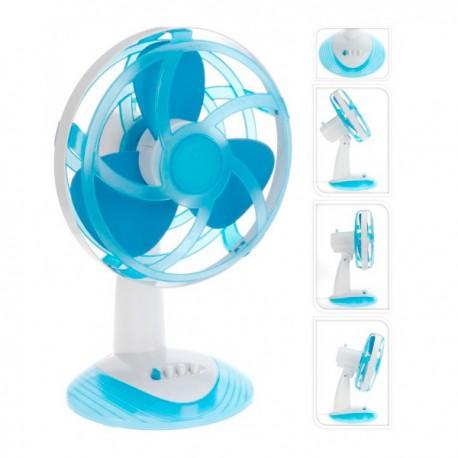 Ventilateur de bureau bleu avec pales en caoutchouc eva oh - Ventilateur de bureau ...