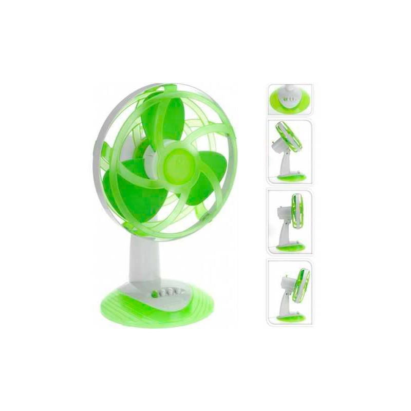 Ventilateur de bureau vert avec pales en caoutchouc eva oh - Ventilateur de bureau ...