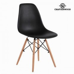 Chaise noire abs et hetre by Craftenwood