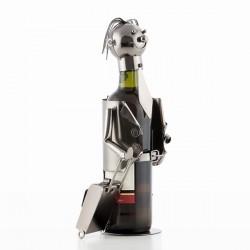 Porte-bouteilles en métal Businessman