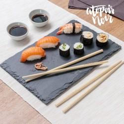 Set pour Sushis Atopoir Noir (pour 4 )