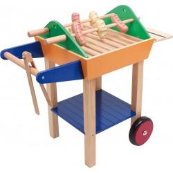 Barbecue en bois avec accesoires (+3 ans)