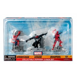 Set de 3 figurines Spiderman, Venom et Deadpool 7 cm